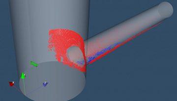 Perfil 3D de sedimentos en conducciones
