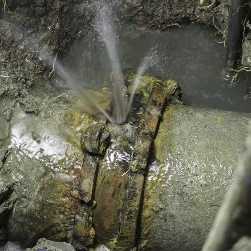 Sewer pipe break
